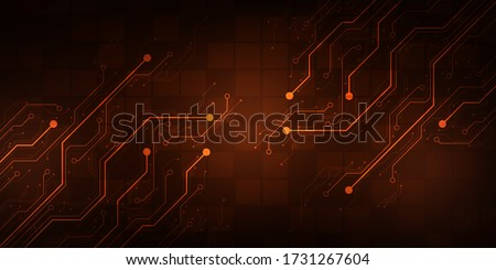 Design in the concept of electronic circuit boards. Stock photo ©