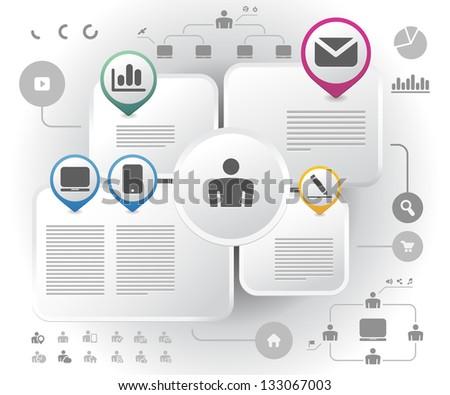 Design info graphics template. Vector