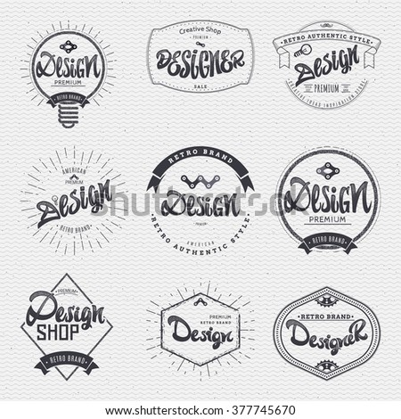 Design - Insignia sticker can be used as a finished logo, or design, corporate identity presentation