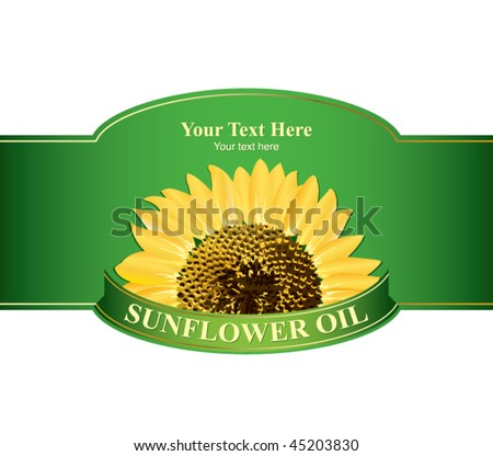 stock vector : Design labels sunflower oil, or any other product from