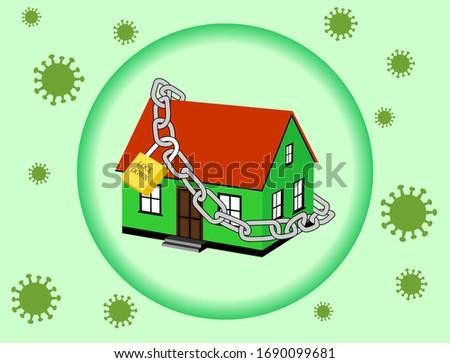 design lock home,Corona virus Locking symbol. the corona lock down virus keeps the country locked. Key concepts for virus outbreaks. lockdown, coronavirus.
