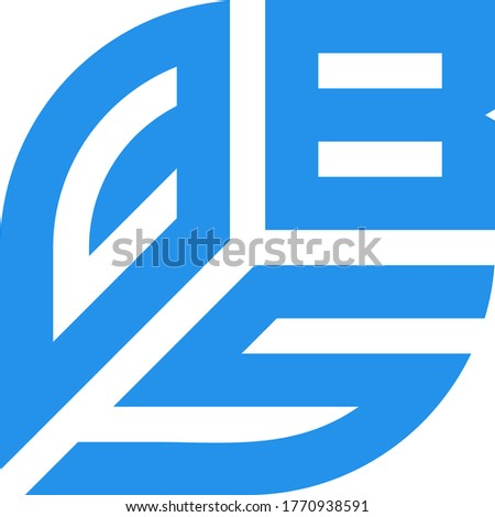 design logo modern vector shape cbs