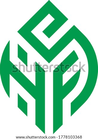design logo modern vector shape HFS