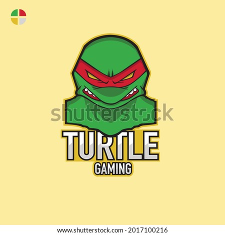 design logo ninja turtle esport