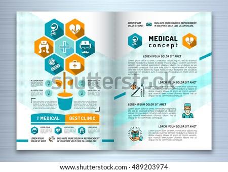 health brochure design template vector download free vector art