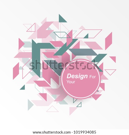 Design Minimalistic geometric element, creative concept, modern abstract on white background. vector illustration #1019934085