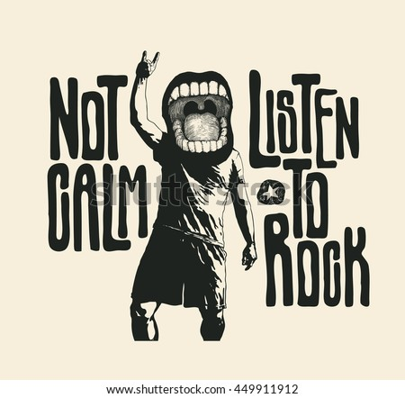 design not calm listen to rock