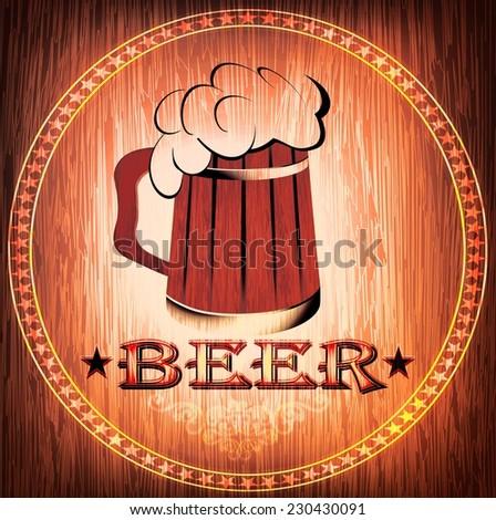 design of a beer mug on the