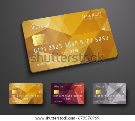 Bank cards templates download free vector art stock graphics images design of a credit debit bank card with a gold bronze and silver accmission Choice Image