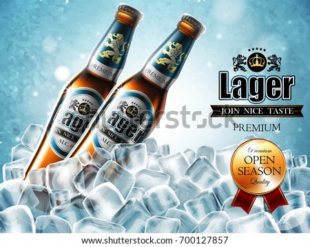 design of advertising beer with