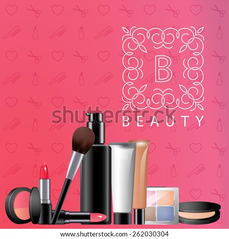 design of beauty blog site with