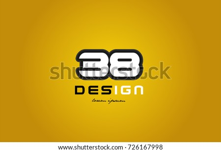design of bold number numeral
