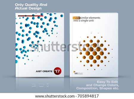 Design of business vector template, abstract brochure