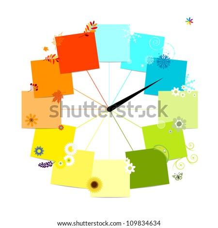 design of clock four seasons
