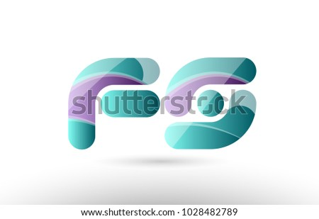 design of 3d alphabet letter fs