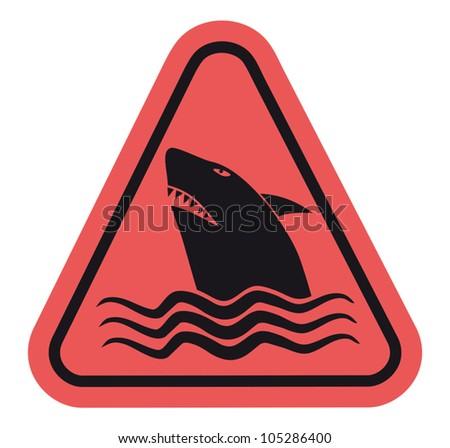 Design of danger shark sign Stock photo ©