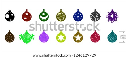 Design of drawings in vectorized files optimized for laser and CNC cutting. Christmas motifs
