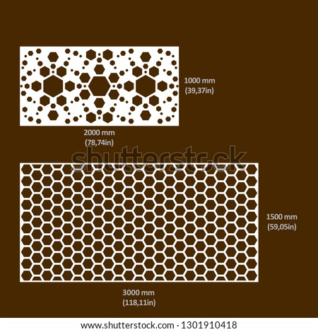 Design of drawings in vectorized files optimized for laser and CNC cutting. Decorative latticework for architecture, interiors, facades, shops, airports, stand and signage. Metal, hpl, composite & mdf