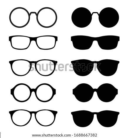 Design of glasses and sunglasses icon