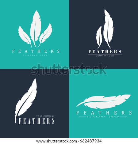 design of logos with feathers