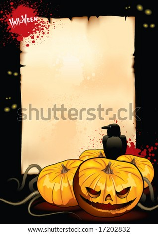 Design of placard for halloween party
