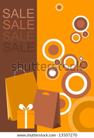 design of poster / flyer for shopping sale