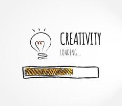 Design of progress bar, loading creativity