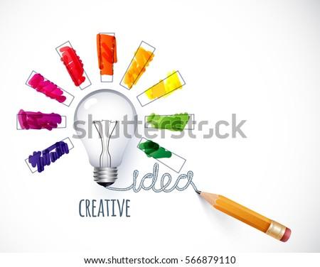Design of progress bar, loading creativity.Lamp.