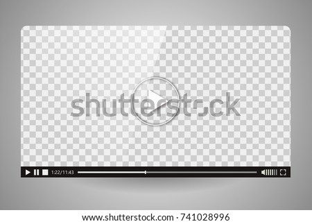 Design of the video player. Interface movie media play bar. Vector flat illustration