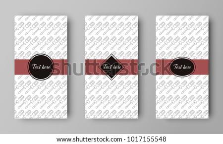 design of vector leaflet with screwdriver pattern #1017155548