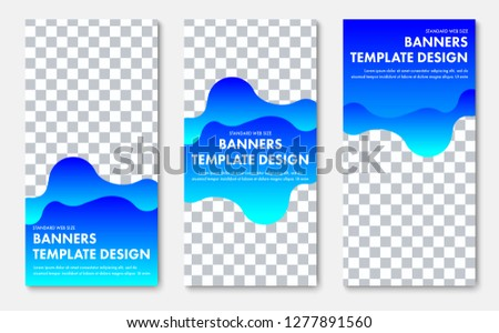 colorful wavy vertical business card or banner design download