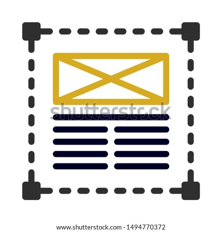 design page icon. flat illustration of design page - vector icon. design page sign symbol