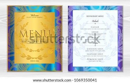 classic templates and wine list download free vector art stock