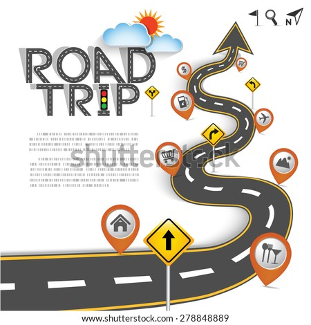 Design Road & Street Template Background with Words