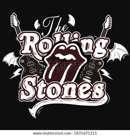design rock themed the rolling stones Foto stock ©
