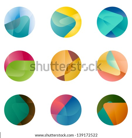 design round vector logo