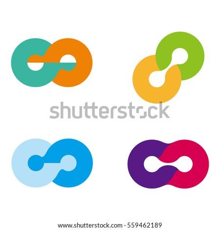 design round wheel logo element