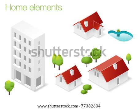 Design set of home elements