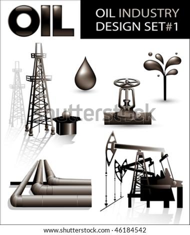 Design set of oil industry vector images (1).