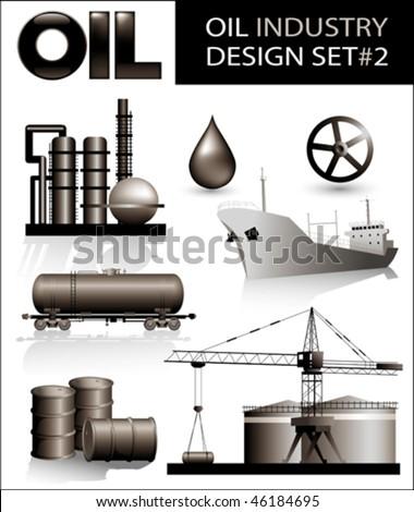 Design set of oil industry vector images (2).