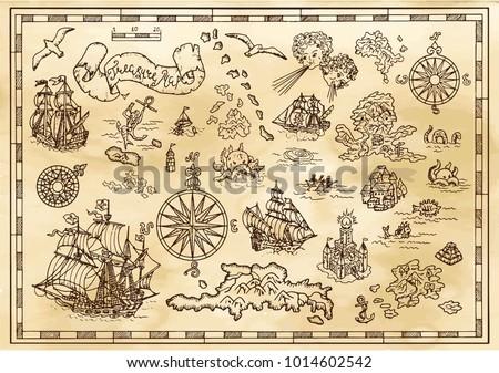 design set with nautical