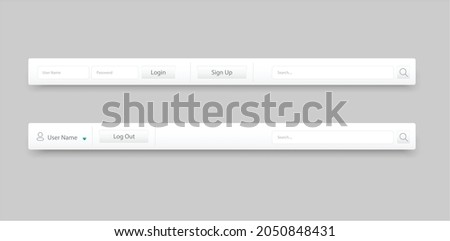 Design Sign out and Sign in and Log out in gray background. vector illustration  Photo stock ©
