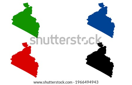 design silhouette map of Ulan Bator in Mongolia with white background Stock fotó ©