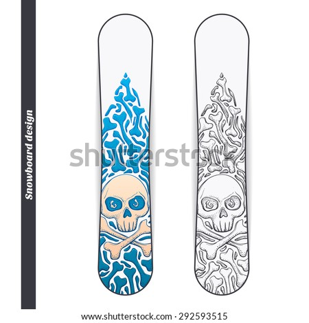 design snowboard with a color