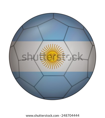 design soccer ball flag of