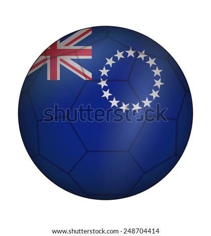 design soccer ball flag of cook