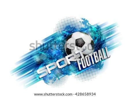 design sports football banner