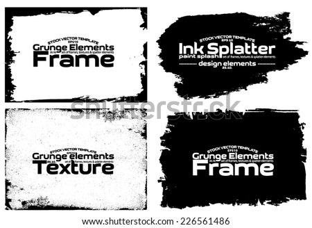 Design template. Abstract grunge frame set texture. Stock vector set - easy to use #226561486
