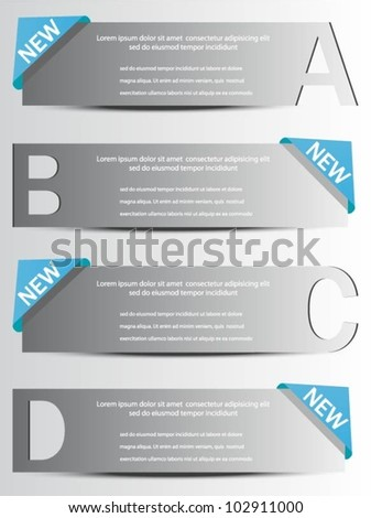 Design template banners with letters.