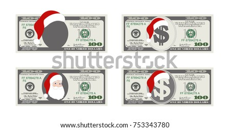 Free 100 dollar bill vector template download free vector art design template 100 dollars banknote with santa claus one hundred dollar bill for christmas sales pronofoot35fo Choice Image